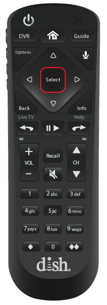 Control remoto de voz - PROVIDENCE, RI - One Stop Satellite - Distribuidor autorizado de DISH